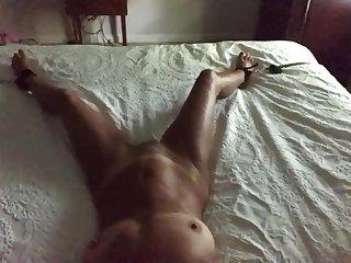 Mature couple plays bondage and fucks
