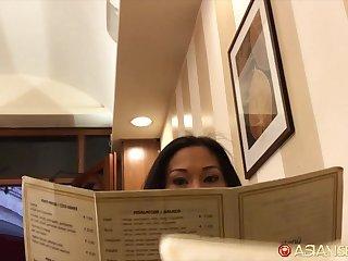 Bootyfull Thai MILF gets fucked after a romantic dinner