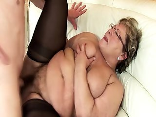 ugly bbw grandma progressive rough fucked off out of one's mind stepson